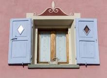 Alpine style window Stock Photo