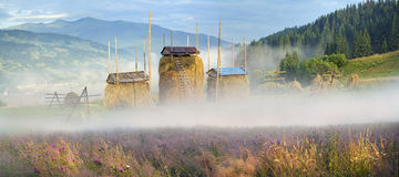 Alpine subsistence agriculture Royalty Free Stock Photography