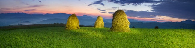 Alpine subsistence agriculture Stock Image