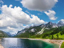 Alpine summer lake Austria. Royalty Free Stock Photography