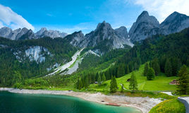 Alpine summer lake view Stock Images