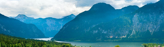 Alpine summer lake view Royalty Free Stock Photo