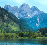 Alpine summer lake view Royalty Free Stock Photos