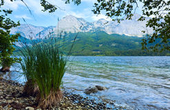 Alpine summer lake view Stock Photography