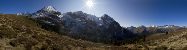 Alpine Sun Stock Image