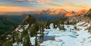 Alpine sunrise landscape in the Wasatch Mountains. Stock Photo