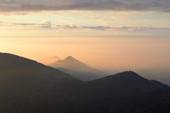 Alpine sunrise from the summit Royalty Free Stock Image