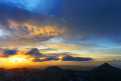 Alpine sunset Stock Image