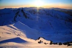 Alpine sunset Royalty Free Stock Image