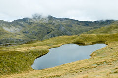 Alpine Tarn on the Lewis Pass Tops Route. Stock Photography