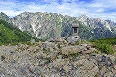 Alpine terrain on Mount Karamatsu, Japan Alps Royalty Free Stock Photography