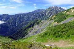Alpine terrain on Mount Karamatsu, Japan Alps Stock Photography