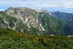 Alpine terrain on Mount Karamatsu, Japan Alps Stock Images