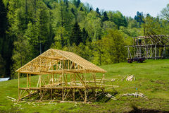 Alpine Timber House Frame Stock Photography