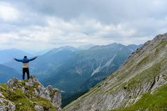 Alpine top of Daniel stock photos