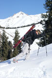 Alpine touring. Skier on the Chimbulak Royalty Free Stock Images