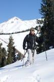 Alpine touring. Skier on the Chimbulak Stock Photo