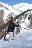 Alpine touring. Skier on the Chimbulak Stock Photography