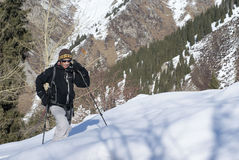 Alpine touring Stock Images