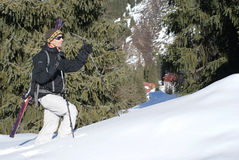 Alpine touring. Skier on the Chimbulak Stock Images