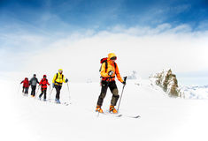 Alpine touring skiers Royalty Free Stock Image