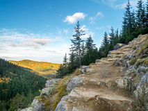 Alpine touristic trail in High Tatra Royalty Free Stock Images