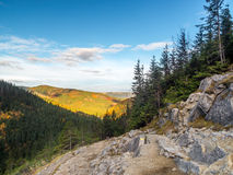 Alpine touristic trail in High Tatra Royalty Free Stock Photo