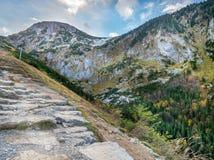 Alpine touristic trail in High Tatra Stock Image