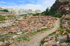 Alpine trail in Medicine Bow Mountains of Wyoming Stock Image
