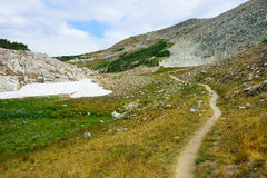 Alpine trail in Medicine Bow Mountains of Wyoming royalty free stock photos