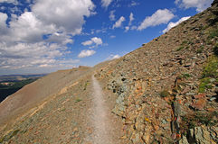 Alpine trail in the wilds Stock Photography