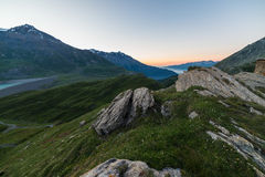 Alpine twilight Stock Images
