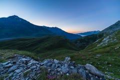 Alpine twilight Stock Images