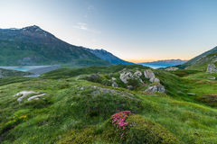 Alpine twilight Stock Photos