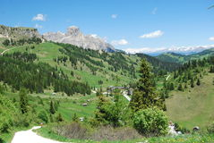 Alpine Valley. Beautiful alpine valley in the Dolomites Royalty Free Stock Photos
