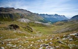 Alpine valley Stock Image