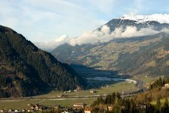 Alpine Valley, Austria Royalty Free Stock Photos