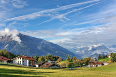Alpine valley in Austria. Mountain panorama Royalty Free Stock Images