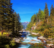 The Alpine valley in Austria Royalty Free Stock Images