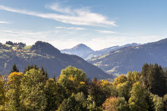 Alpine valley of Brixental with Hohe Salve in Tirol Austria Royalty Free Stock Image