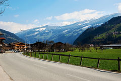 Alpine valley road Stock Images