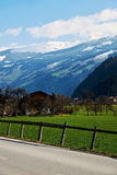 Alpine valley road Stock Photo