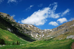 Alpine valley in Romania Stock Photo