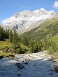 Alpine Valley in Switzerland Royalty Free Stock Image