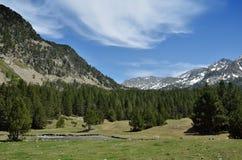 Alpine valley Vall-de-Madriu-Perafita-Claror, Pyrenees Royalty Free Stock Image
