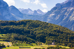Alpine view in Cavedago Royalty Free Stock Images