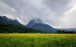 Alpine view from Garmish-Partenkirchen, Bavaria Royalty Free Stock Photography