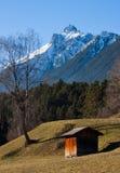 Alpine view. Idyllic view of the austria alps in tirol Stock Photo