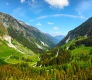 Alpine view from Kaunertaler Gletscherstrasse Austria Stock Photography