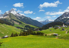 Alpine view (Vorarlberg,Austria) Stock Photo